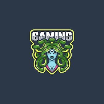 Medusa logo mascotte