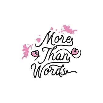 Meer dan woorden die typografiecitaten belettering