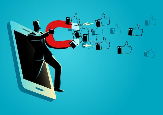 Meer krijgen likes is een cruciaal onderdeel van marketingstrategie