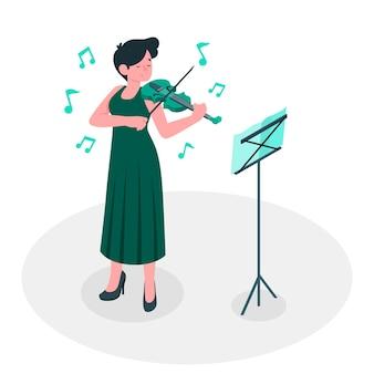 Meer muziek concept illustratie