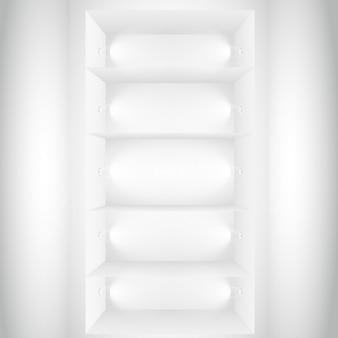 Meerdere etalages met verlichting