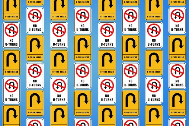 Meerdere verkeersbord in verschillende vormen behang illustratie