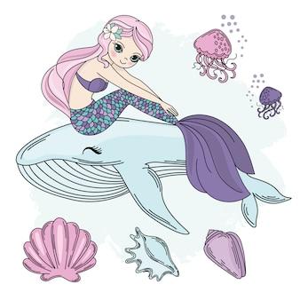 Meerjeswandeling princess sea underwater vector