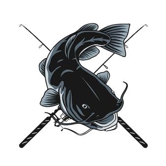 Meerval vissen ontwerp