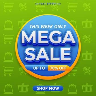 Mega deals verkoop banner achtergrond