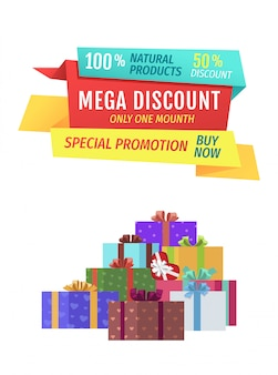 Mega discount special promo banner