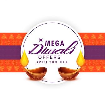 Mega diwali verkoop festival poster sjabloon