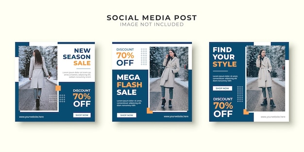 Mega flash verkoop social media postsjabloon