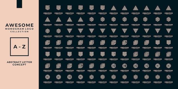 Mega logo brief, monogram, eerste collectie