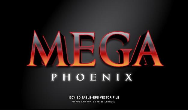 Mega phoenix teksteffect lava-element kleur bewerkbaar lettertype
