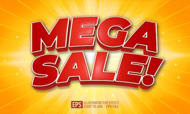 Mega sale 3d-tekst bewerkbare stijleffectsjabloon