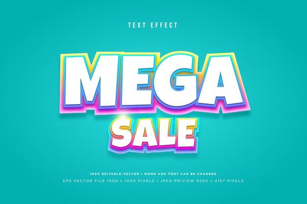 Mega sale 3d-teksteffect op tosca-achtergrond