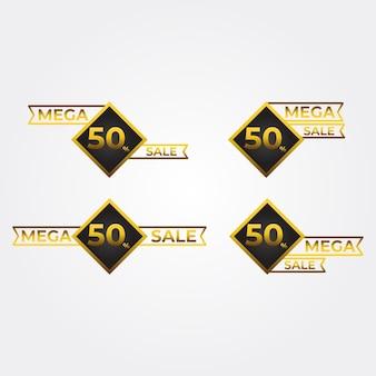 Mega sale badges collectie luxe gouden verloopbadges