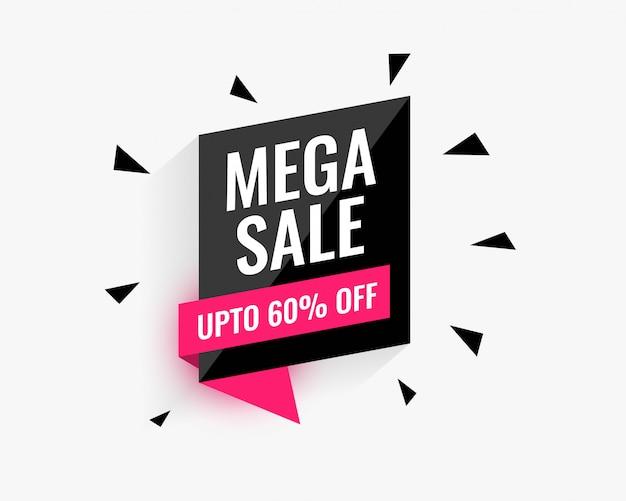 Mega-sale bannerontwerp voor uw zakelijke promotie