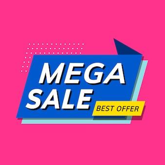 Mega-sale best-aanbieding winkelpromotie-advertentie