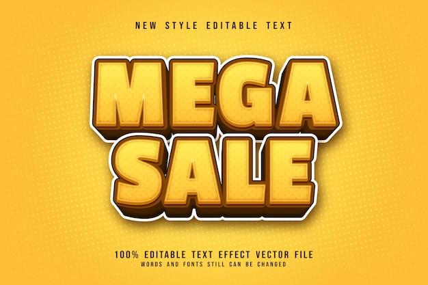 Mega sale bewerkbaar teksteffect 3-dimensionale cartoonstijl cartoon