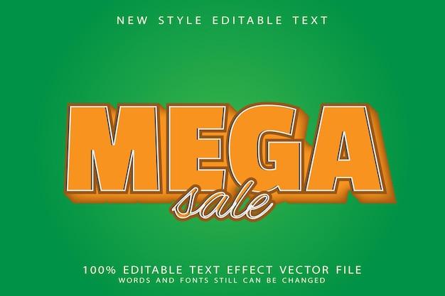 Mega sale bewerkbare teksteffect reliëf cartoon stijl
