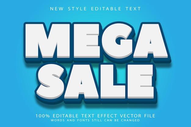 Mega sale bewerkbare teksteffect reliëf moderne stijl