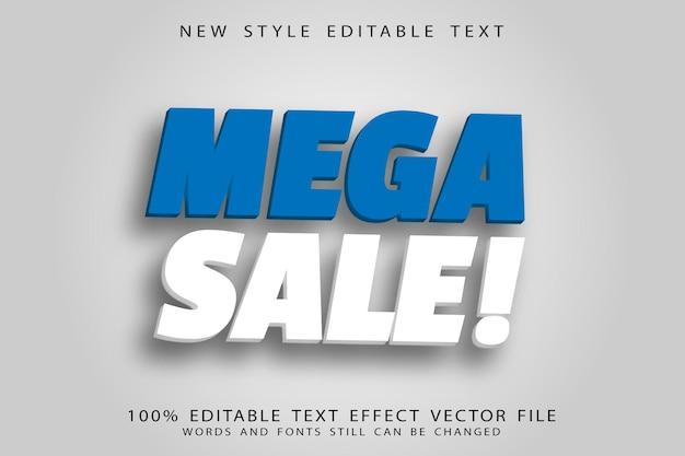 Mega sale bewerkbare teksteffect reliëf vintage stijl
