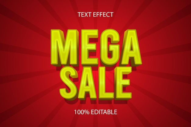 Mega sale kleur goud bewerkbaar teksteffect