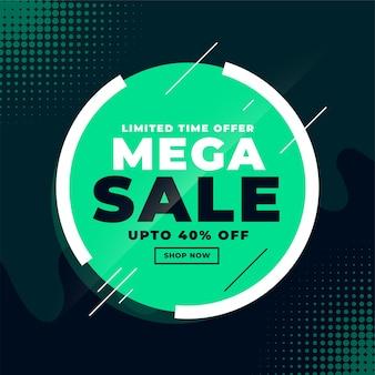 Mega sale korting bannerontwerp