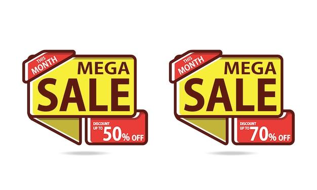 Mega sale-korting