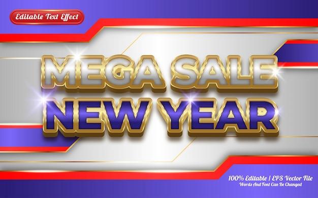 Mega sale nieuwjaar bewerkbaar teksteffect