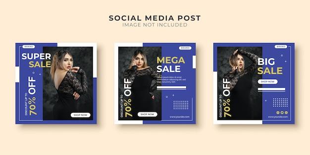 Mega sale social media postsjabloon