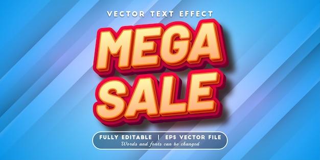 Mega sale-teksteffect, bewerkbare tekststijl