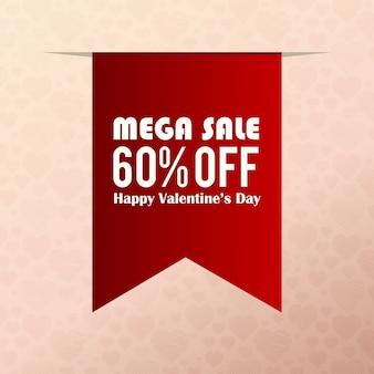Mega-verkoop 60% korting op valentijnsdag