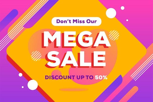Mega verkoop abstracte achtergrond