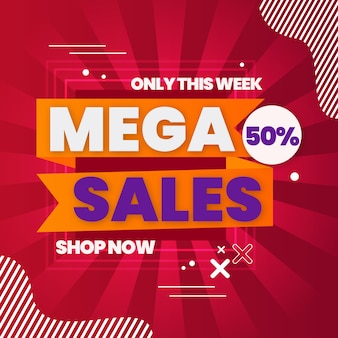 Mega verkoop achtergrond