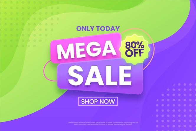 Mega-verkoop achtergrondwinkel nu