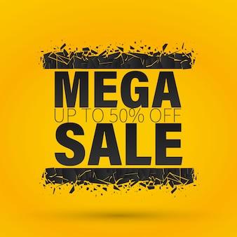 Mega verkoop banner