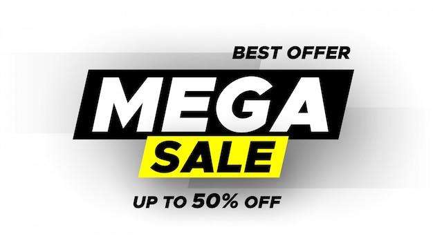 Mega verkoop banner.