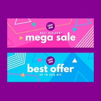 Mega verkoop banners sjabloon