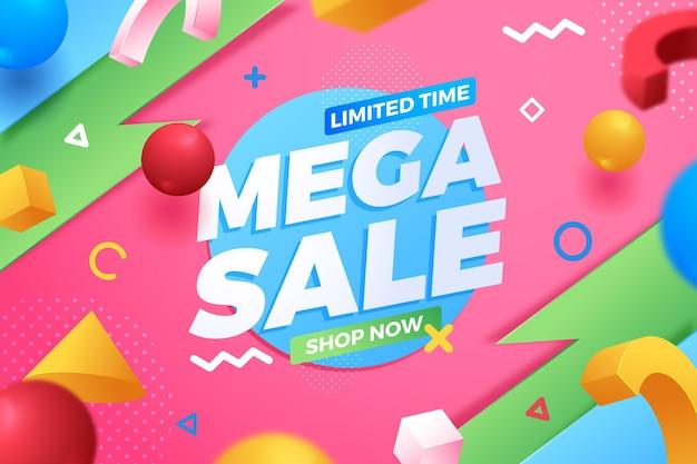 Mega verkoop beperkte tijd achtergrond