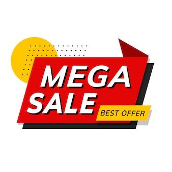 Mega-verkoop beste aanbieding winkel promotie advertentie vector