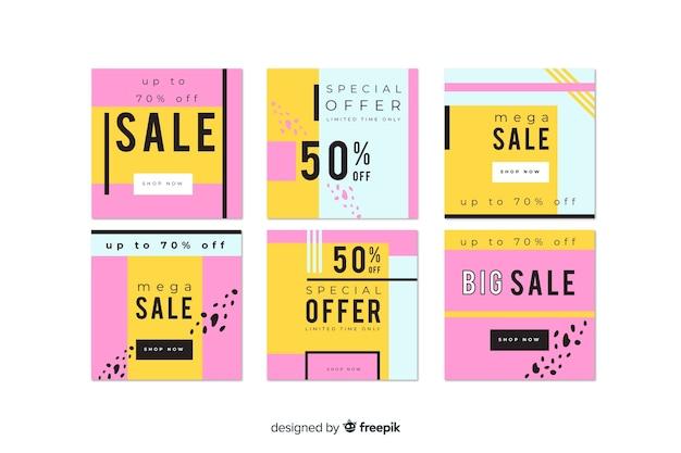 Mega verkoop instagram post collectie