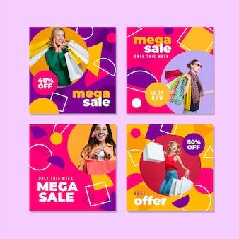 mega verkoop instagram postverzameling