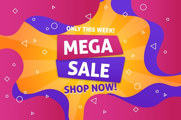 Mega verkoop kleurrijke verkoop backgroun