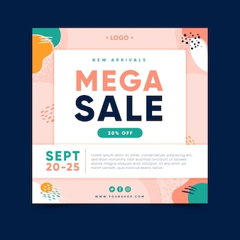 Mega-verkoop met kortingen