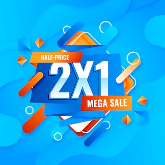 Mega verkoop promo banner