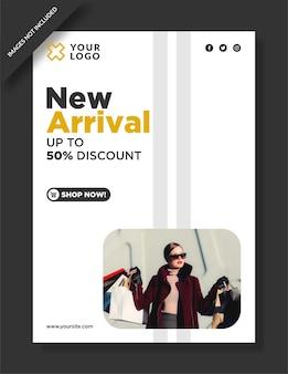 Mega verkoop sjabloon folder