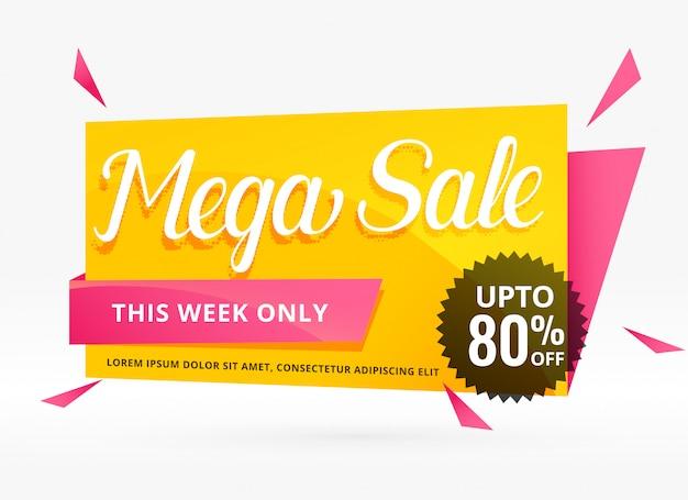 Mega-verkoop spandoekontwerp voor promotie