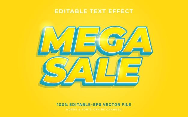 Mega verkoop teksteffect