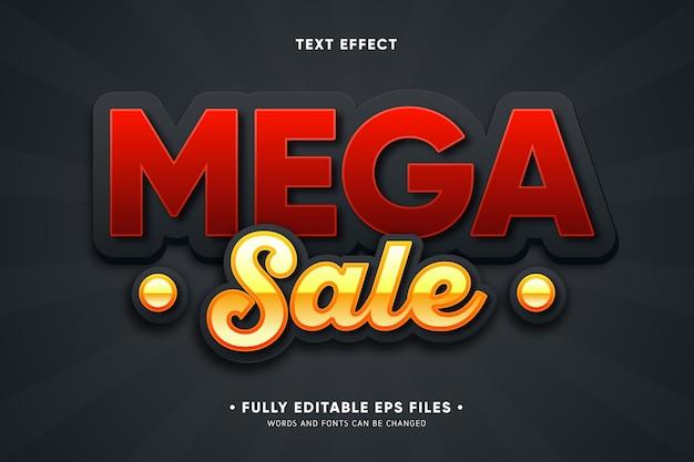 Mega-verkoop teksteffect
