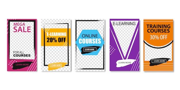 Mega-verkoop voor alle online cursussen, e-learning.
