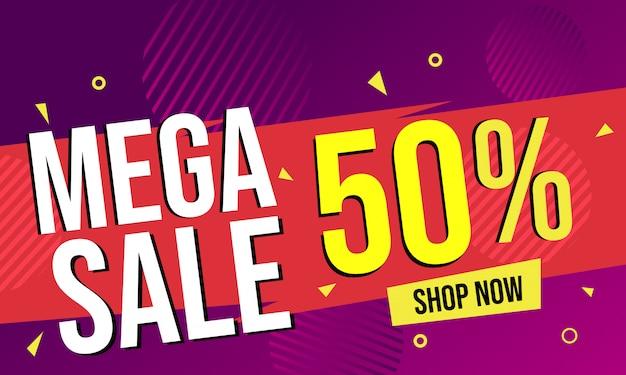 Mega verkoopaanbieding banner
