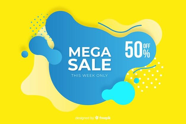 Mega verkoopachtergrond in abstracte stijl